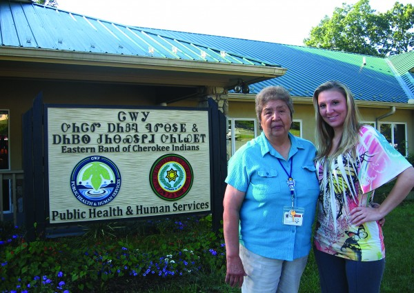 Brittany Ensley (right), winner of a three-night beach trip in the Mountain Mediation Beach Raffle, is shown with her grandmother, Jane Owle, who purchased the winning ticket for her.  (Mountain Mediation photo)