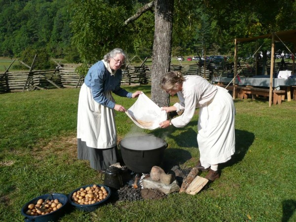 Open fire cooking is just one of the demonstrations that will occur at this weekend's Mountain Life Festival.  (NPS photo)