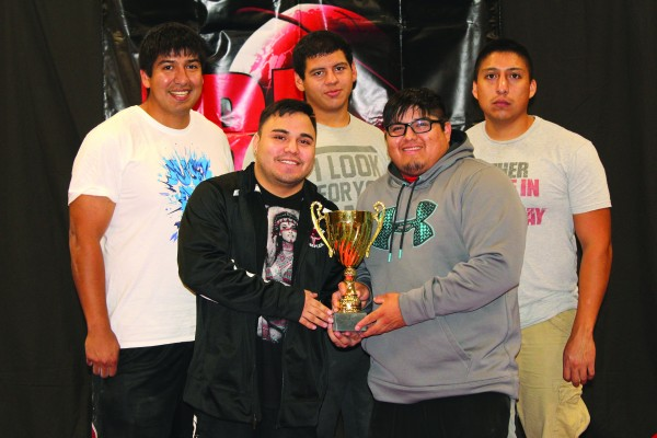 The Cherokee Fitness Complex Powerlifting Team is shown as a recent event in Yadkinville.  Shown (left-right) back row – Damian Solis, Mason White and Joseph Solis; front row – Franklin McCoy and Jorge Welch.  Not pictured – Dion Toineeta and Katlin Roberts.  (Photo courtesy of Damian Solis)