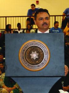 Chief Lambert gives his Inaugural Address.