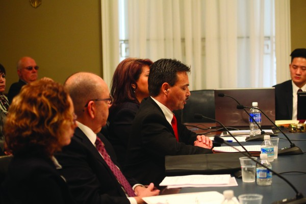 Principal Chief Patrick Lambert gives testimony on HR 3599 during a House Natural Resources Committee hearing on Wednesday, Feb. 24. (Photo courtesy of House Natural Resources Committee)
