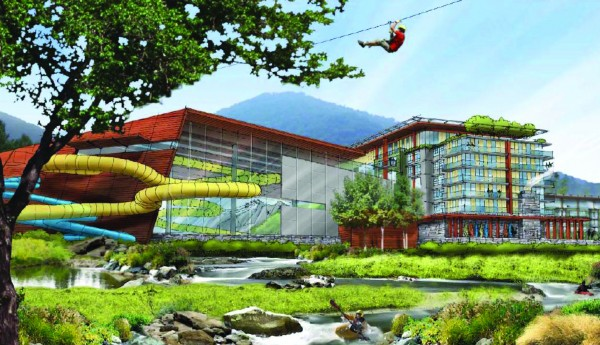 The image above is a rendering of the proposed Cherokee Adventure Park.