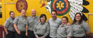 """Vice Chief Rich Sneed (3rd from right) rode with """"D-Shift"""" of the Tribal Emergency Services on Saturday, March 26. (Photo courtesy of Vice Chief Sneed)"""
