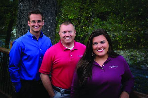 Sequoyah Fund staff is shown (left-right) including: Michael Bruce, controller; Russ Seagle, executive director; and Hope Huskey, associate director. (Photo courtesy of the Sequoyah Fund)