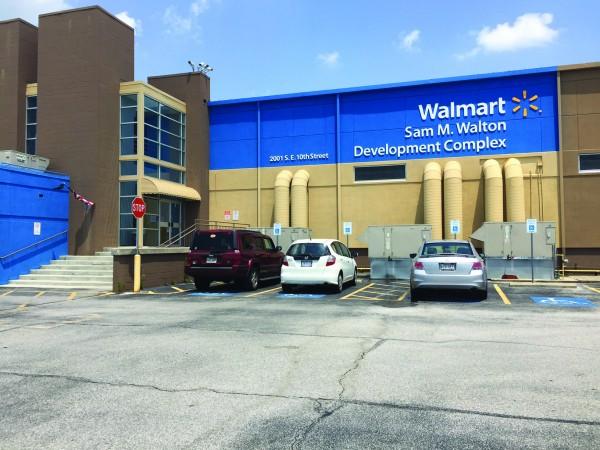 Principal Chief Patrick Lambert visited the Walmart Corporate Headquarters in Bentonville, Ark. on Thursday, June 16 and met with Walmart senior directors of real estate Damian Tutt and Joe Allbright. (Photo courtesy of Principal Chief Patrick Lambert)