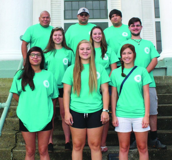 The Jones-Bowman Fellows are shown at a recent retreat at YMCA Blue Ridge Assembly in Black Mountain including (left-right) front row - Brantly Junaluska, Faith Long, and Rebecca Teesateskie; middle row - Kayla Johnson, Chloe Blythe, and Jacob Long; and top row - Tim Swayney, Michael Thompson, and Caleb Teesateskie.  (Photos courtesy of Alicia Jacobs/Jones-Bowman)