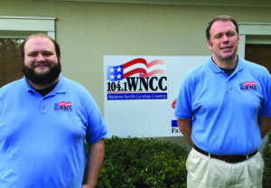 Announcers for the Cherokee Braves football season on WNCC include Dustin Short and Sean Gibson. (Photo courtesy of WNCC)