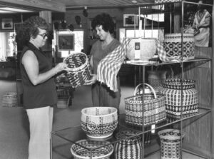 Betty Dupree (left) served as manager of Qualla Arts and Crafts for 24 years (1973-97).