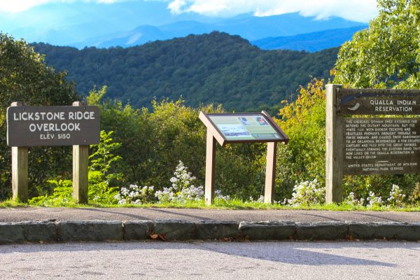 PARTNERS: A new program, called Qualla Parkway Partners, will involve trained volunteers stationed at the Lickstone Ridge Overlook on the Blue Ridge Parkway.  (SCOTT MCKIE B.P./One Feather)