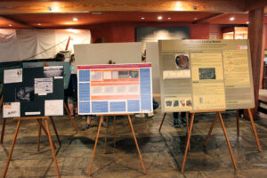 A display was set up in the Museum lobby featuring information from Dr. Brett Riggs as well as the EBCI Tribal Historic Preservation Office.