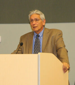 IDEAS: Kevin Gover, National Museum of the American Indian director, speaks at a consultation meeting held in Cherokee on Friday, Oct. 28 for the future National Native American Veterans Memorial. (SCOTT MCKIE B.P./One Feather photos)