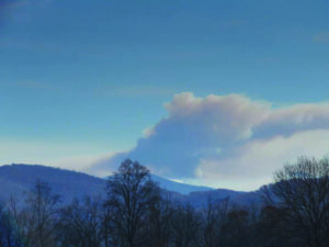 The fire, which had burned three acres on Friday, grew to over 500 acres by Monday afternoon.