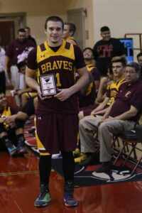 Tye Mintz, Braves junior guard, was named to the All-Tournament team.