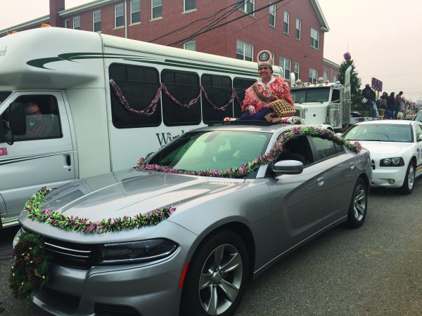 PARADE: Miss Cherokee Amorie Gunter smiles as she rides in the Franklin Christmas Parade on Sunday, Nov. 27.  (Photo courtesy of Miss Cherokee)