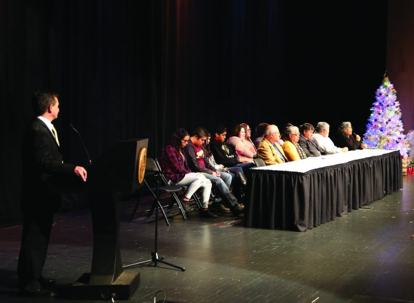 """ELDERS: Chief Lambert attended the """"Honor the Elders"""" event at the Chief Joyce Dugan Cultural Arts Center on Friday, Dec. 2."""