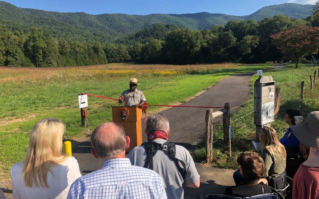 Park celebrates completion of new accessible trail in Cades Cove