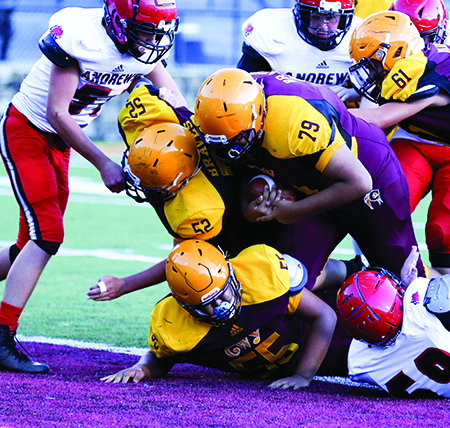 JV FOOTBALL: Braves double offensive yards in 48-6 defeat of Andrews
