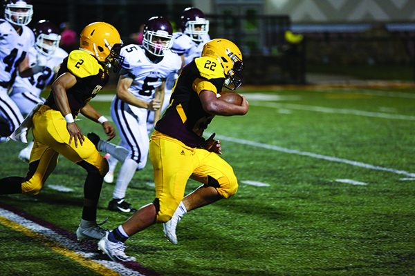 JV FOOTBALL: Braves finish season with victory over Maroon Devils